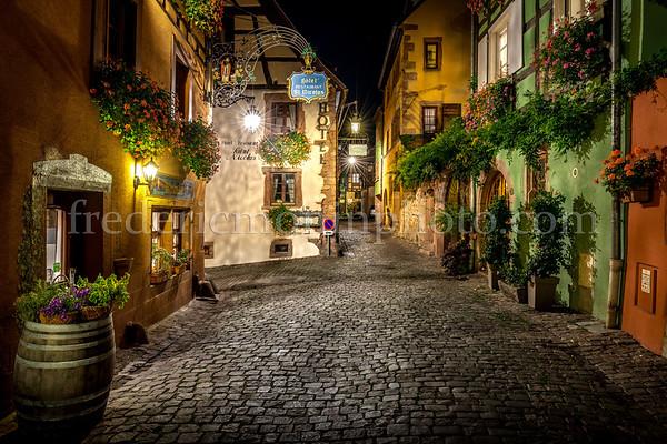 St-Nicolas street at Riquewirh in Alsace