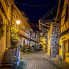 Street of Ramparts at Equisheim in the region of Alsace (France)