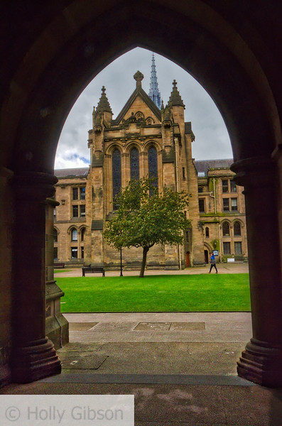 View of the university from The Cloisters