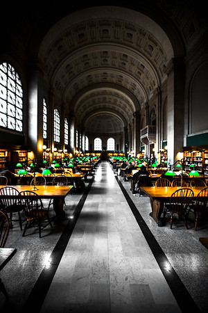 Study Time in Boston Public Library
