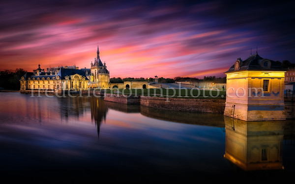 Blue Hour on the Castle of Chantilly (Oise)