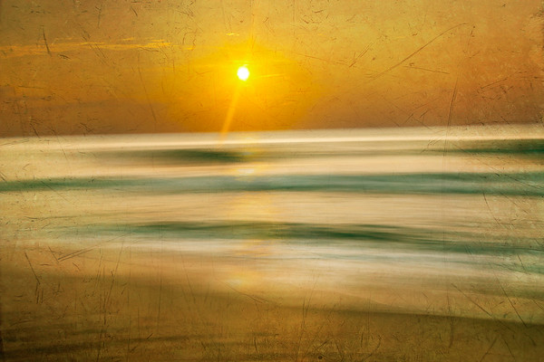 Ocean City Sunrise - Distressed Effect
