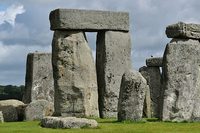 Closeup of Stonehenge's structure.
