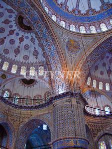 Inside Blue Mosque Istanbul Turkey