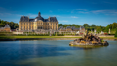 Vaux le Vicomte castle view from the garden