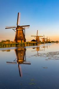 Kinderdijk windmills in the Netherlands