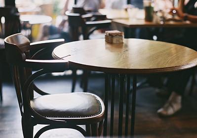 in a café