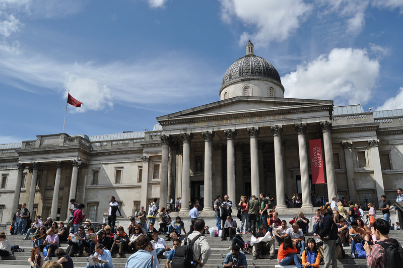 England's National Gallery at Trafalgar Square, London.