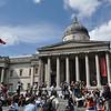 England's National Gallery at Trafalgar Square, London.