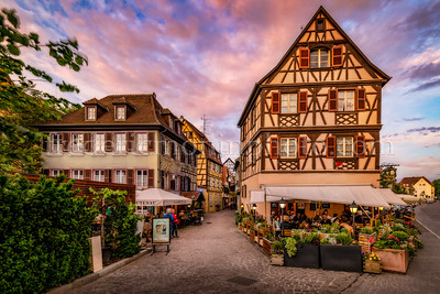 End of day in Colmar