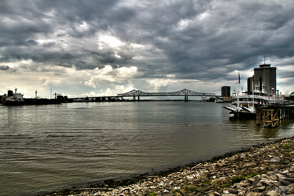 Mississippi River Bridge in New Orleans