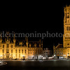 Markt in Bruges by night