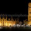 Markt in Bruges by night