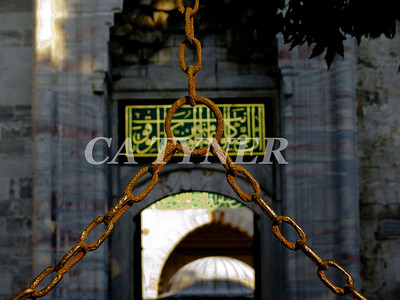 Entrance To The Blue Mosque Istanbul Turkey