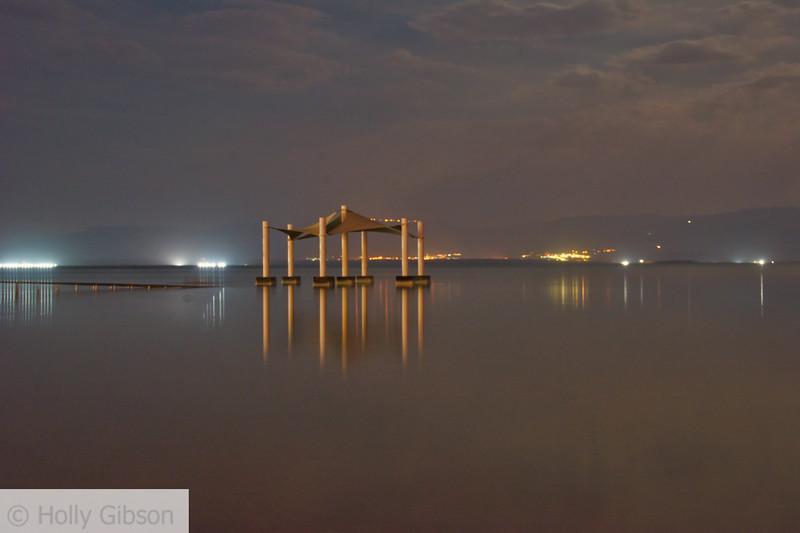 Dead Sea at night