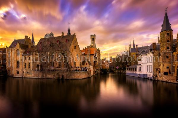 Dijver channel in Bruges