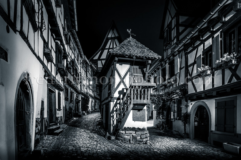 """""""Rempards"""" street at Equisheim in the region of Alsace"""