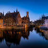 Blue hour on the Dijver channel in Bruges