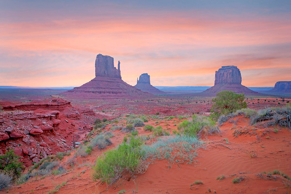 Monument Valley with Ravine