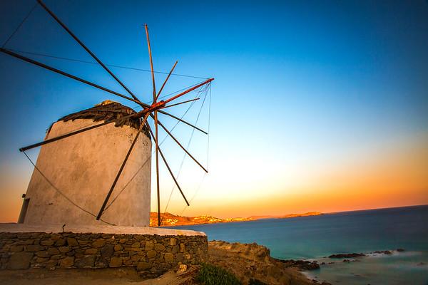 Sunrise Over The Mykonos Windmills