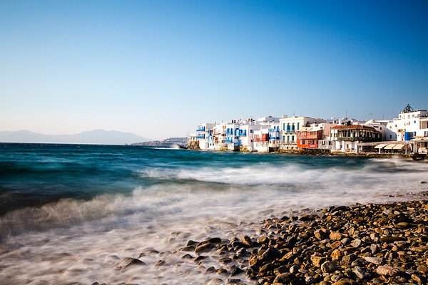 Ocean Motion - Little Venice, Mykonos, Greece