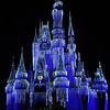Cinderella's Castle at night, Christmas 2011.