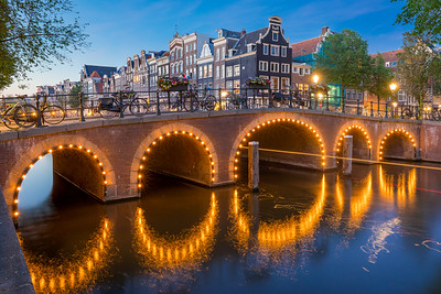 Bridge on the canal Herengracht at Amsterdam