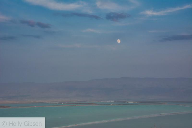 Moonrise over the Dead Sea