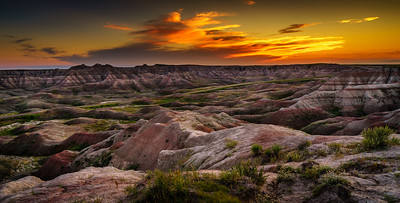 Badlands Big Foot Pass Sunset