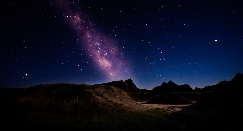 Milky Way Over the Badlands