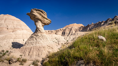 Badlands Teetering Rock