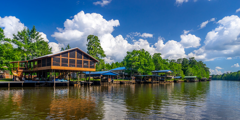 Houses Along Big Cypress Bayou