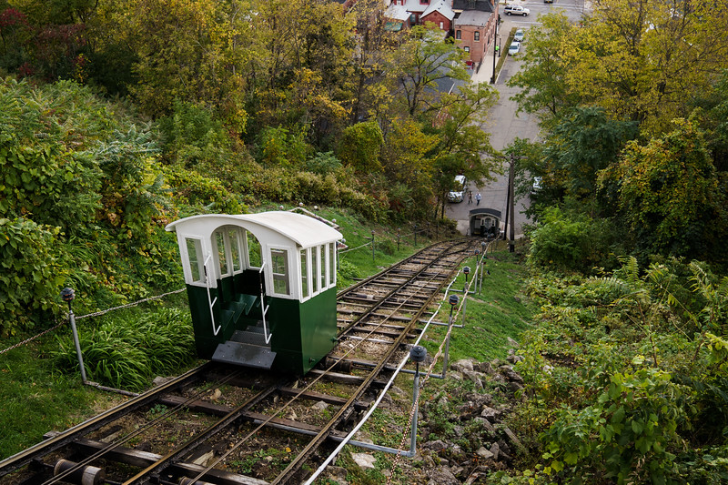 Cable Car at Fenelon Place Elevator in Dubuque, IA