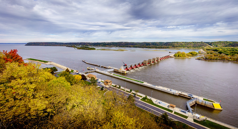 Lock and Dam 11 in Dubuque, IA