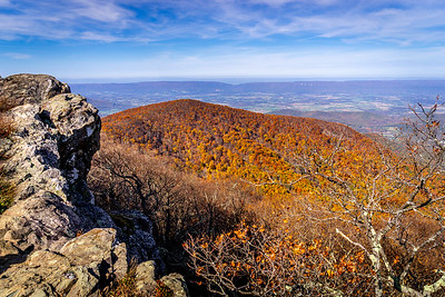 Hawksbill Summit in Fall Looking Southwest