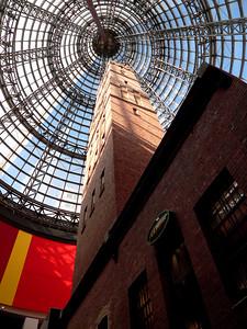 Historic ammunition factory inside a mall in Melbourne, Australia. Panasonic FZ20.