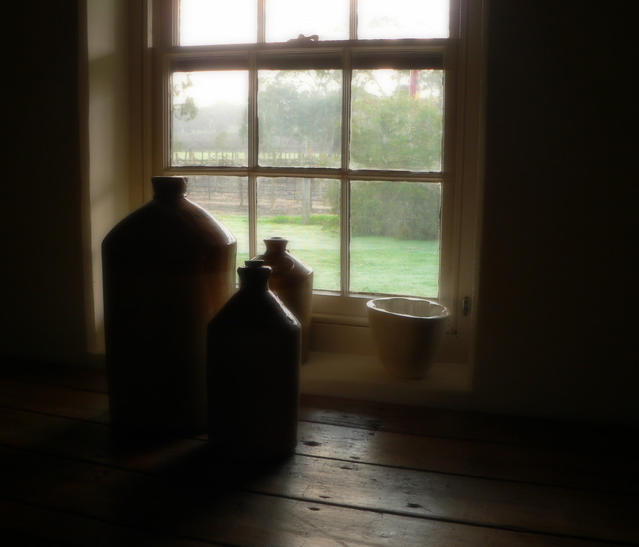 Historic, sheep shearers cabin in soft morning light. Panasonic FZ20.