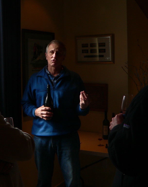 Wine vinter talks about making his wine in New Zealand.