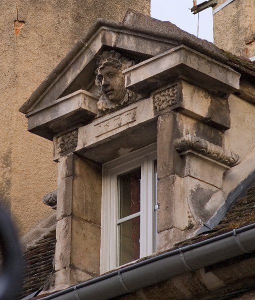 Detail of view from hotel window in Beaune, Burgundy.