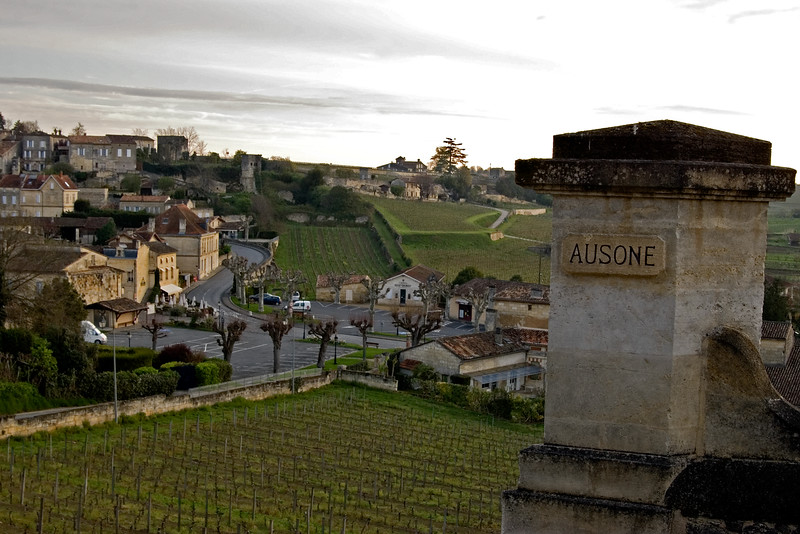Gate of Chateau Ausone, First Growth Bordeaux in St. Emilion, France.