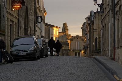 Evening arrival in St. Emilion.