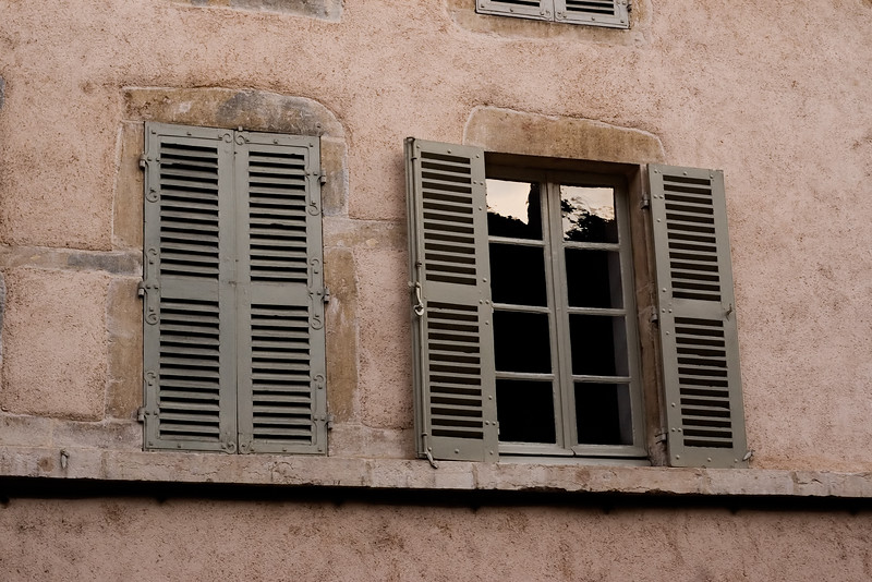 View of window in Beaune, Burgundy.