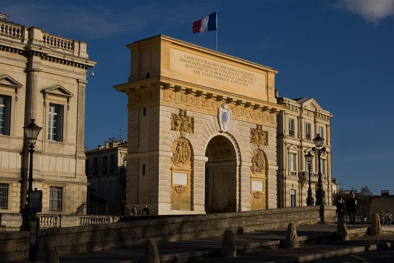 Arc de Triomphe, Montpellier, France.