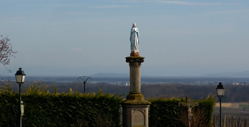 Road Side Statue of Mary in southern France.
