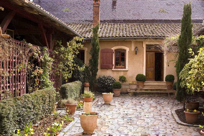Entrance to the house of Madame/Messer Claude Geoffray in Brouilly, Beaujolais.