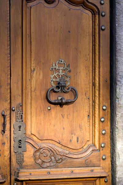 Door at Hotel d'Europe in Avignon.