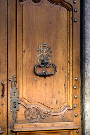 Door at Hotel d'Europe in Avignon.