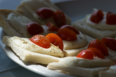 Caprese appertizers served at the Arduini Valpolicella winery outside of Verona, Italy.
