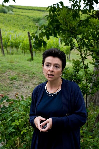 Annalisa Battuello, owner & winemaker of Tenuta I Quaranta in the Asti wine region of the Piedmont in Italy.