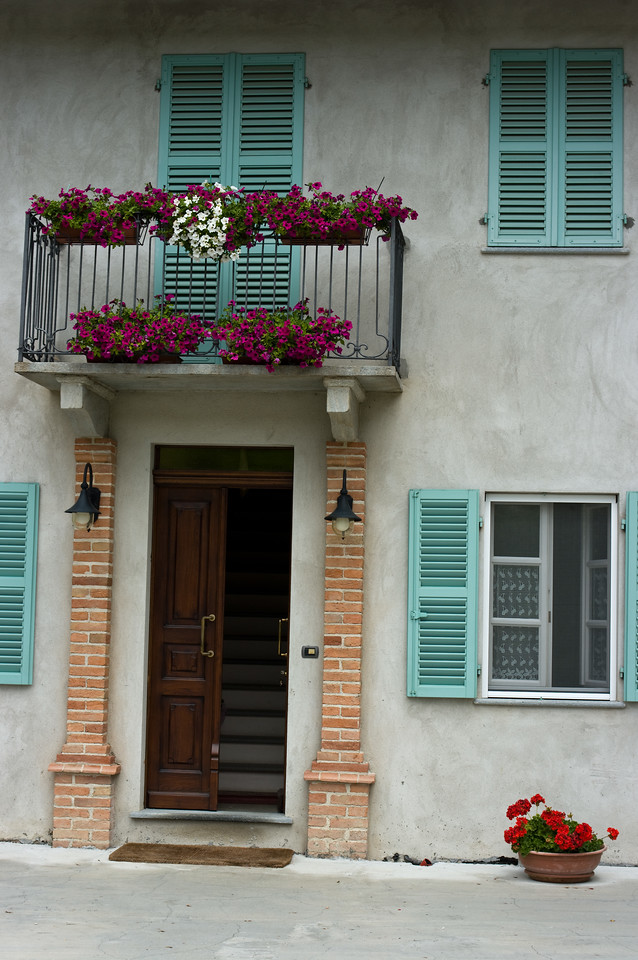 Front entrance to the home and winery of Prinsi in Barbaresco in the Piedmont region of Italy.